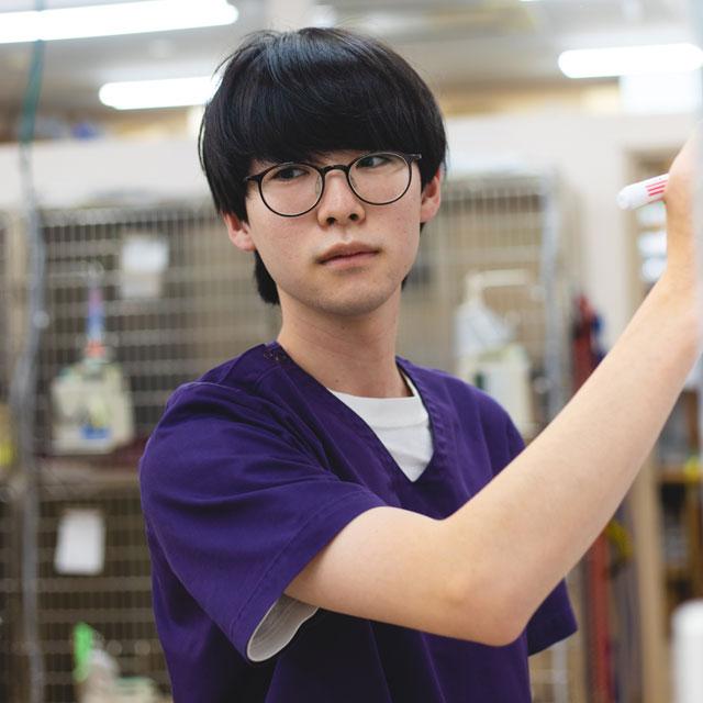 受付事務:島津諒一/高崎動物専門学校/認定動物看護師